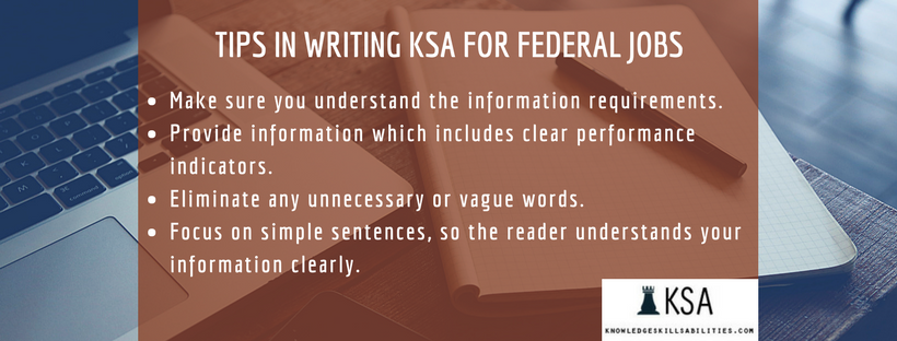 tips in writing ksa for federal jobs