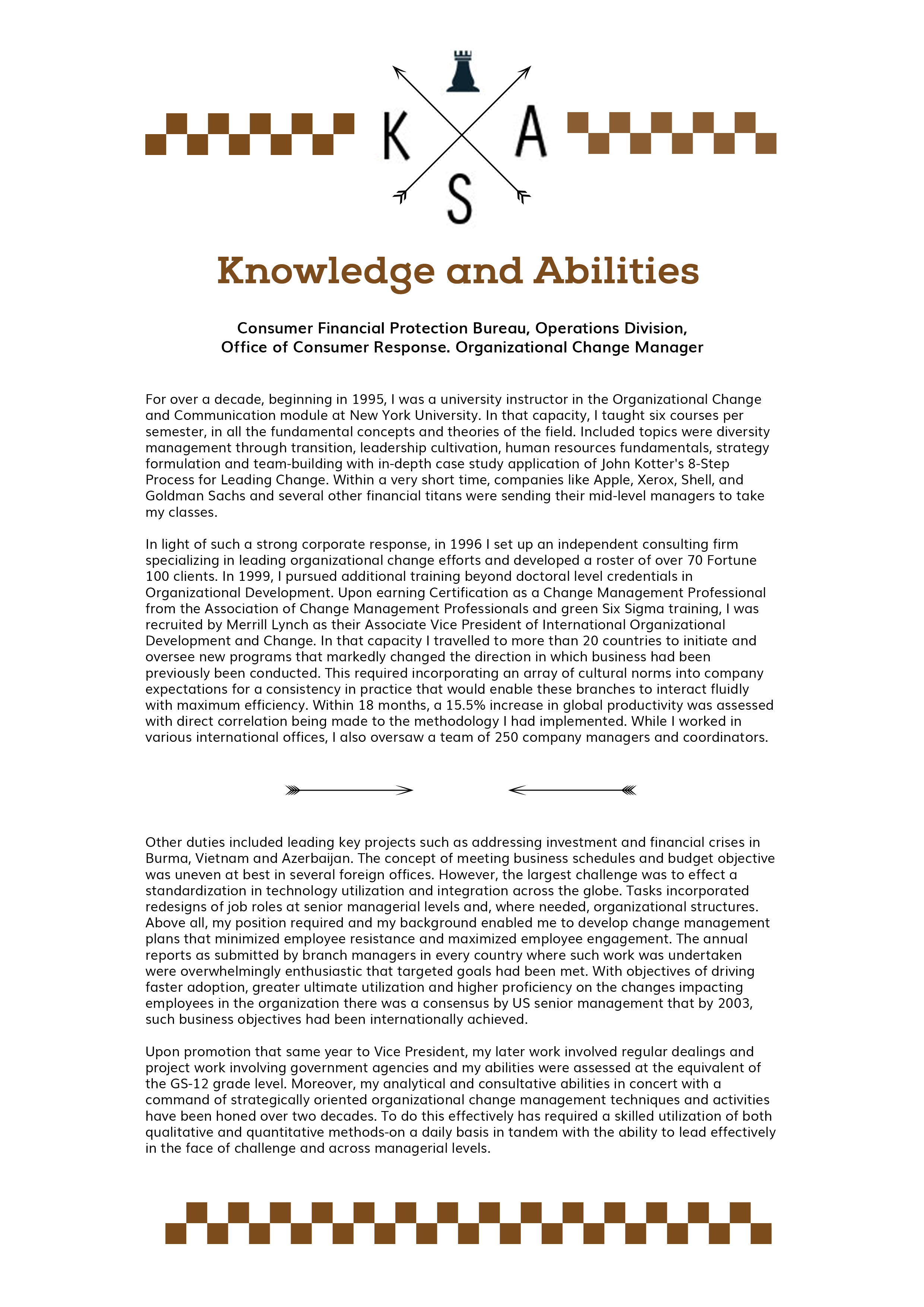 knowledge skills abilities writing services